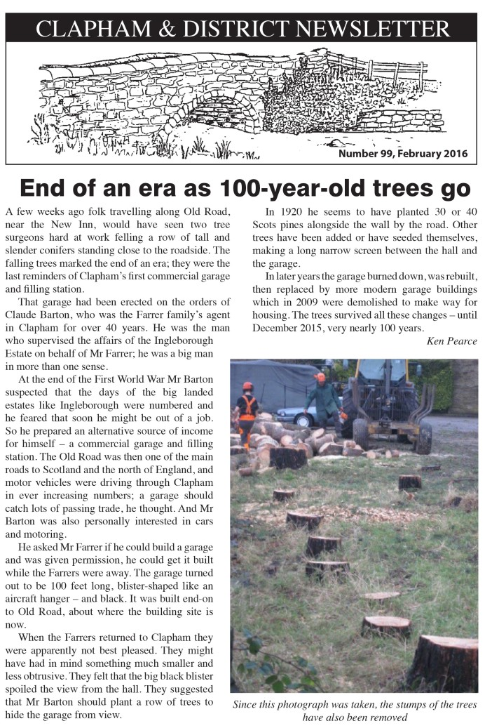 100 year old trees Newsletter No 99 February 2016