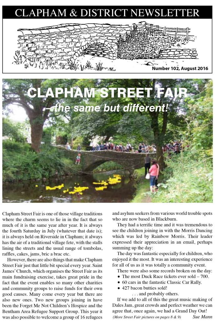 Clapham_Newsletter_No102_August_2016-1