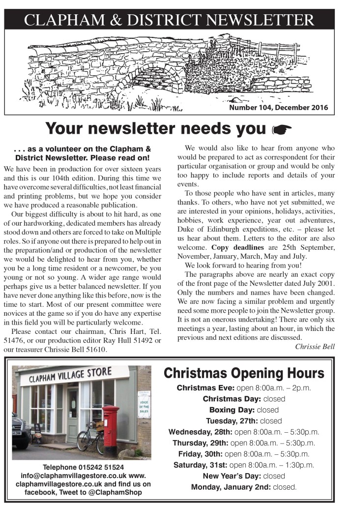 Clapham_Newsletter_No104_December_2016-1