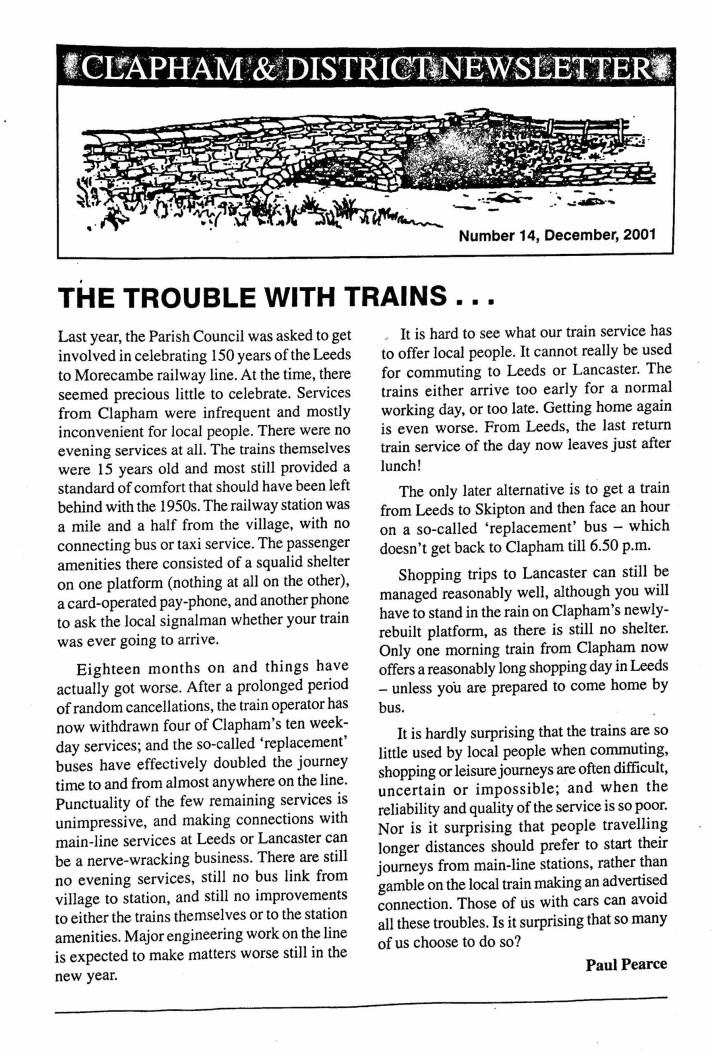 Clapham_Newsletter_No14_December_2001-1