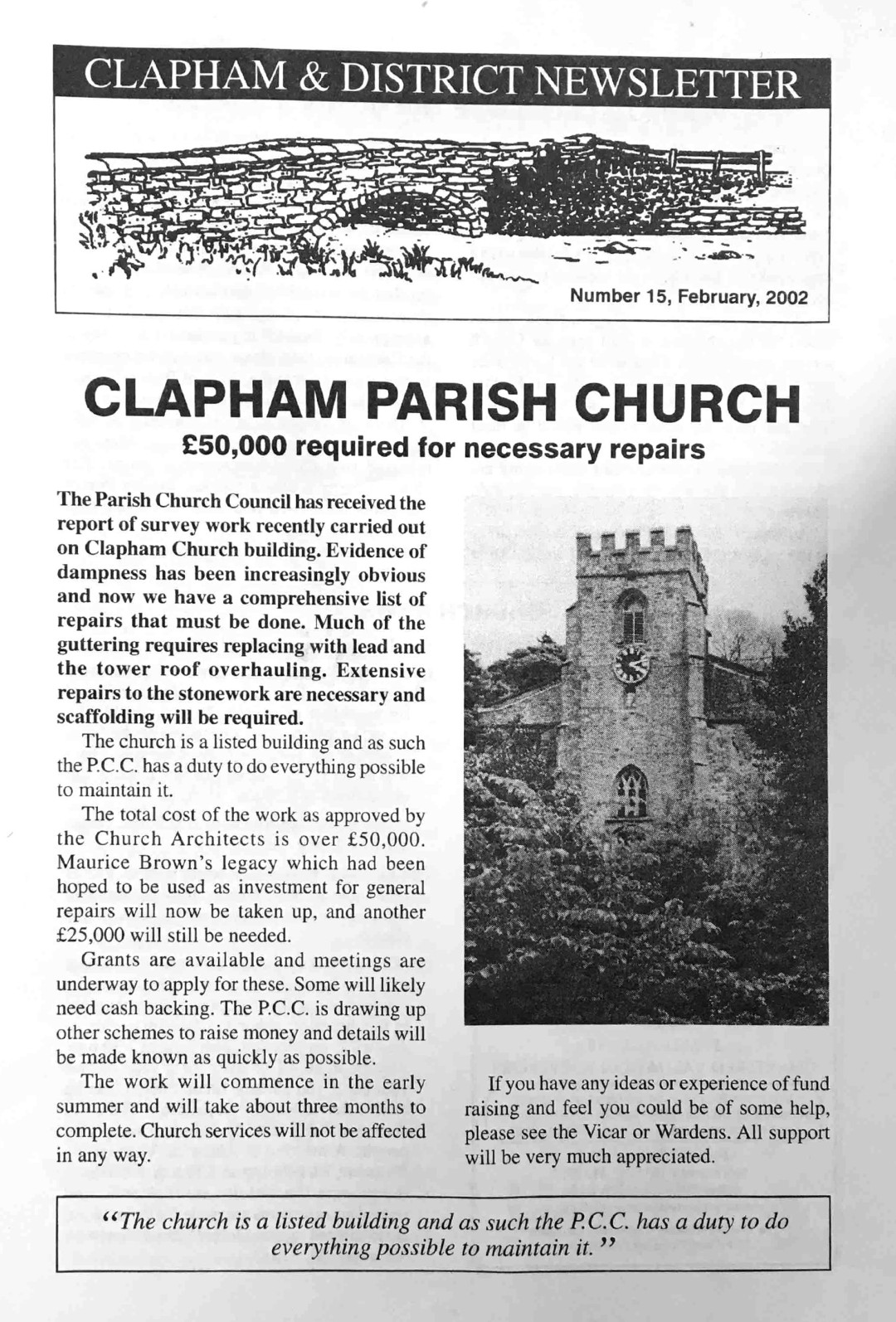 Clapham_Newsletter_No15_February_2002-1