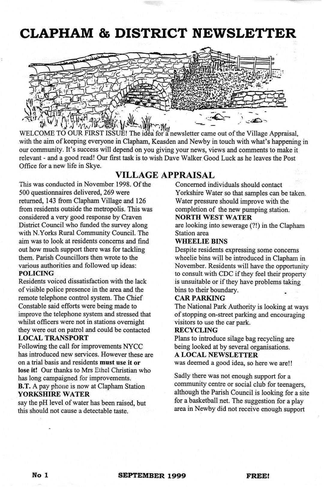Clapham_Newsletter_No1_September_1999-1