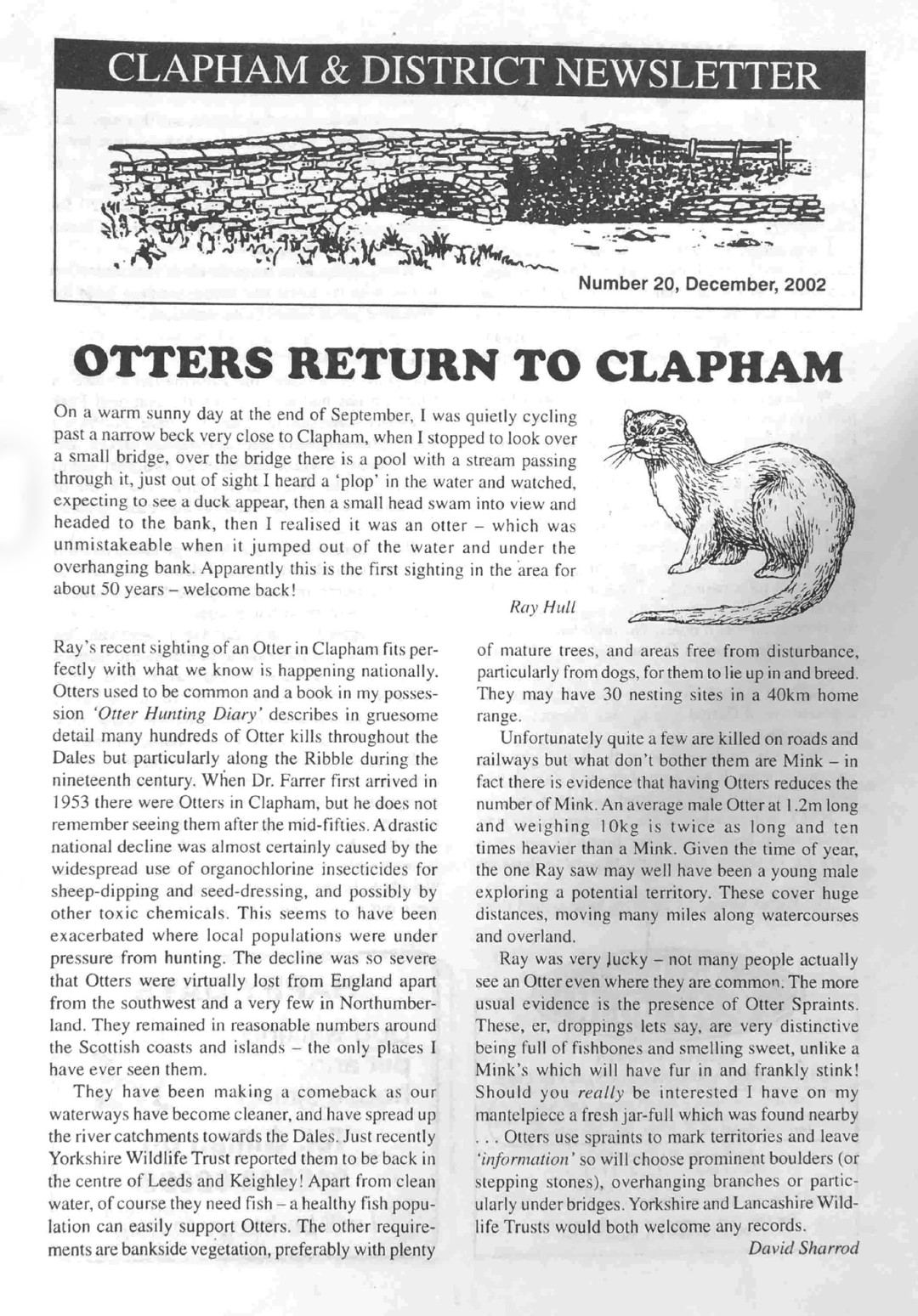 Clapham_Newsletter_No20_December_2002-1