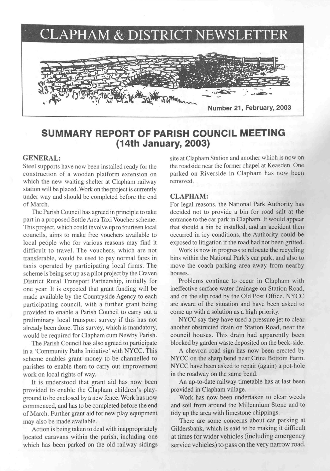 Clapham_Newsletter_No21_February_2003-1