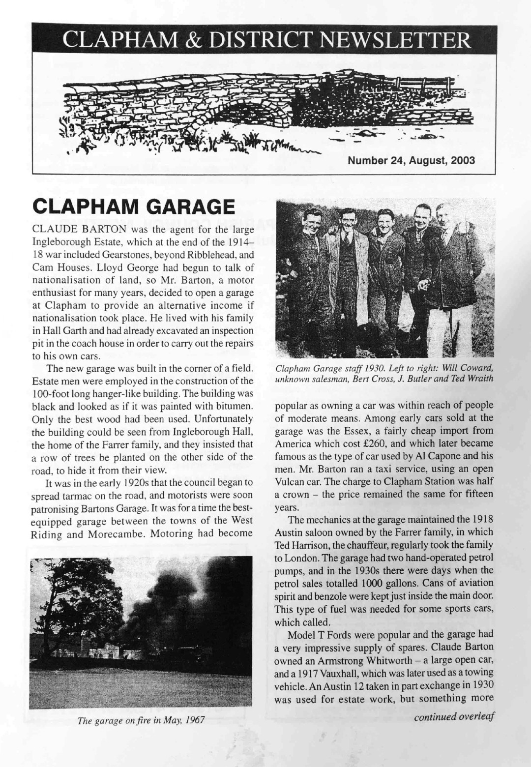 Clapham_Newsletter_No24_August_2003-1