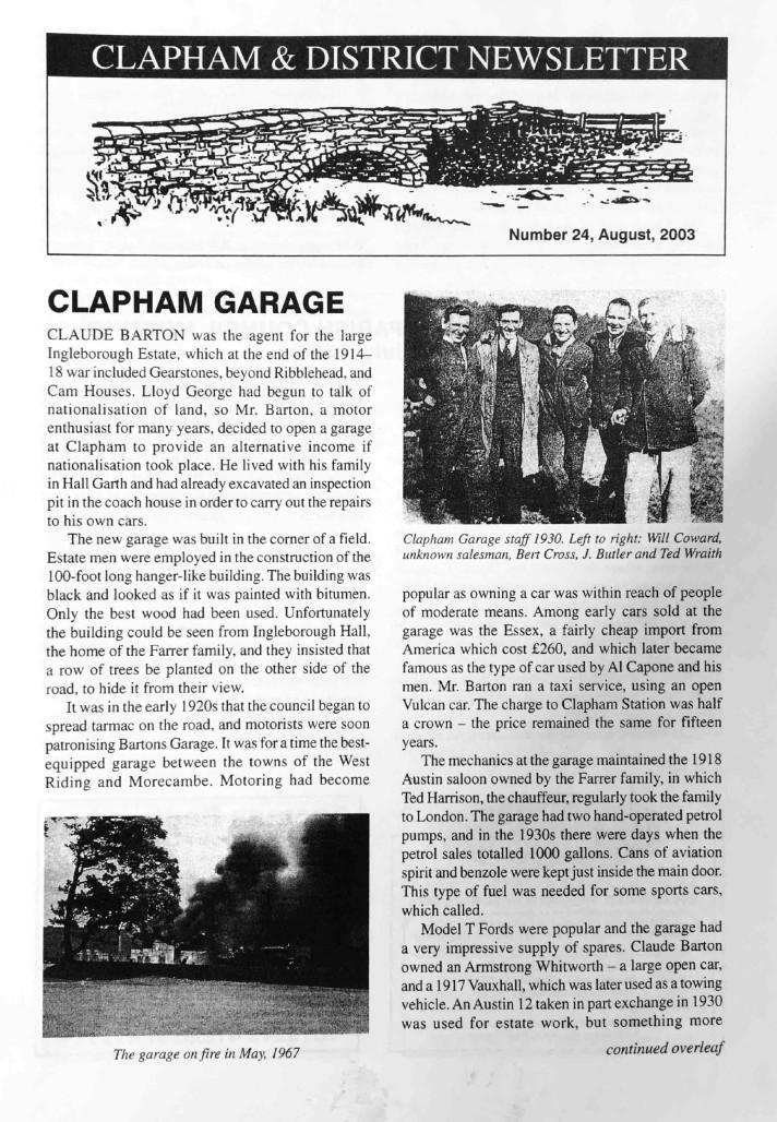 Clapham_Newsletter_No24_August_2003-1