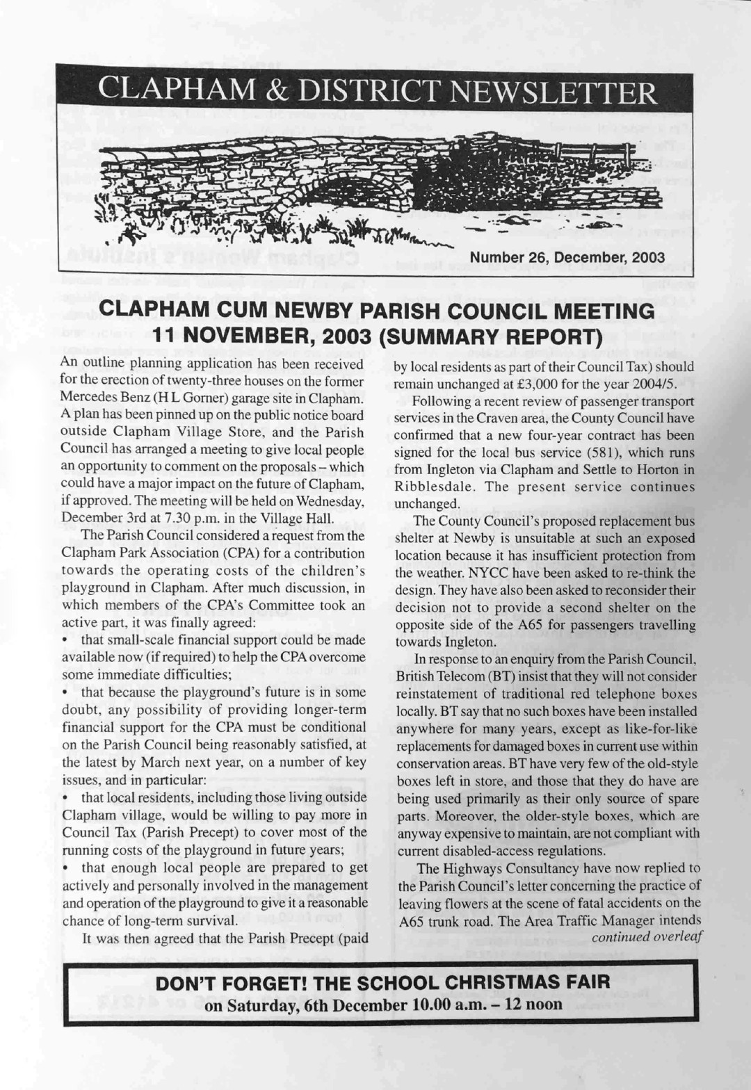 Clapham_Newsletter_No26_December_2003-1