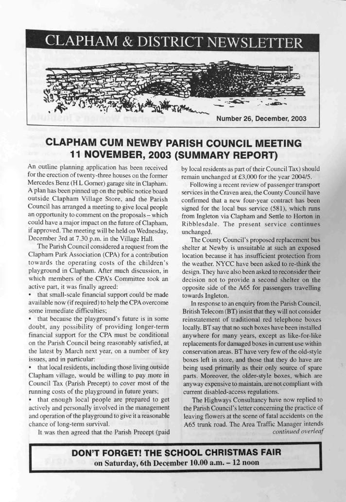 Clapham_Newsletter_No26_December_2003-1