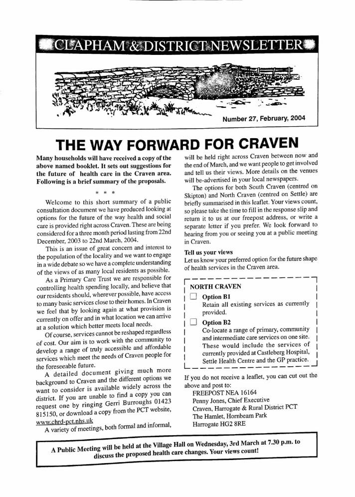 Clapham_Newsletter_No27_February_2004-1