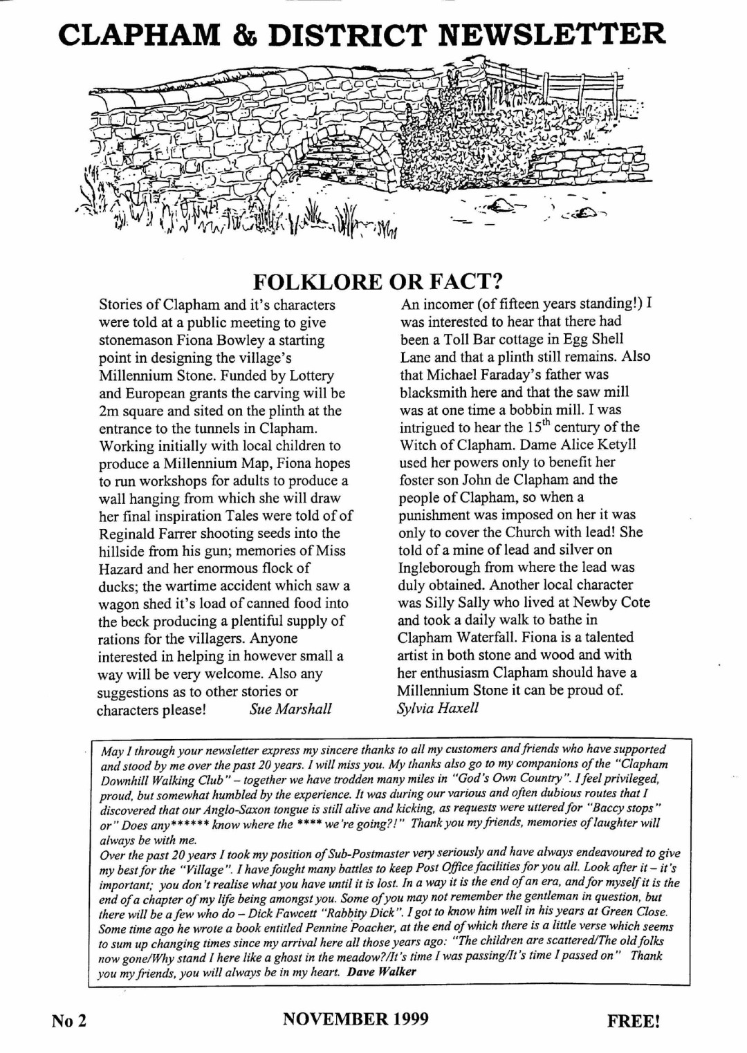 Clapham_Newsletter_No2_November_1999-1