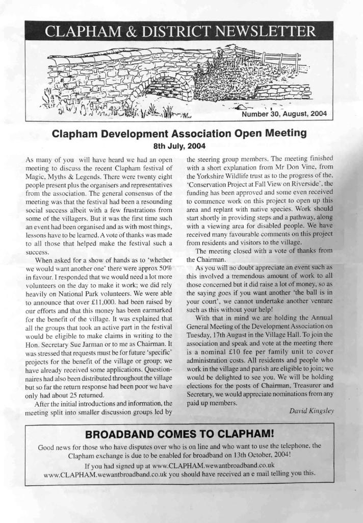 Clapham_Newsletter_No30_August_2004-1