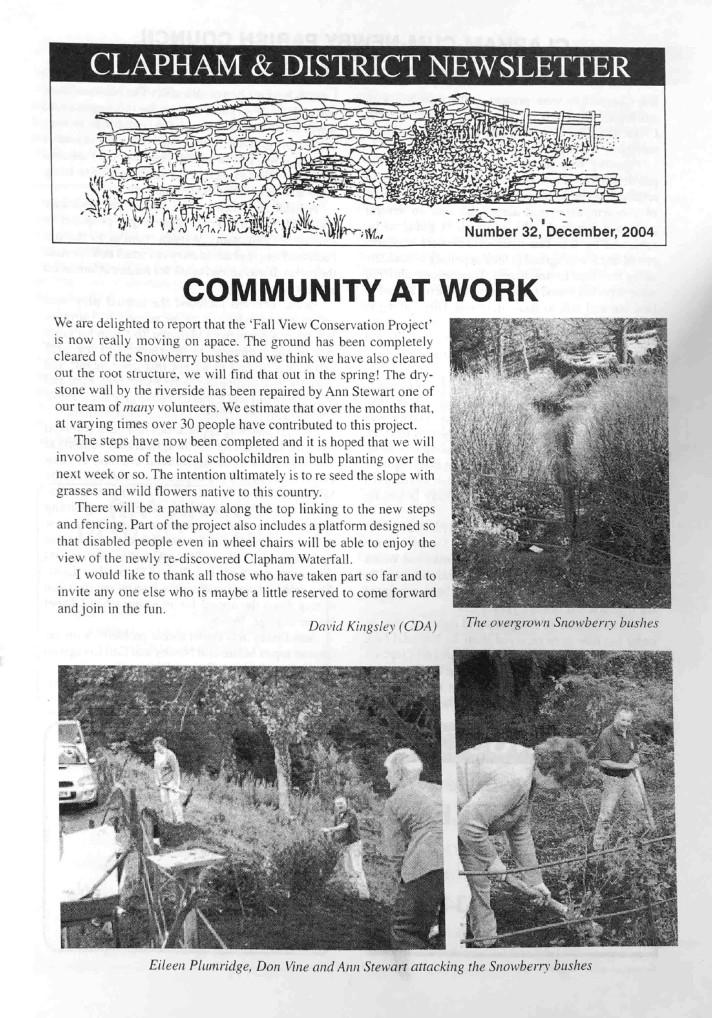 Clapham_Newsletter_No32_December_2004-1