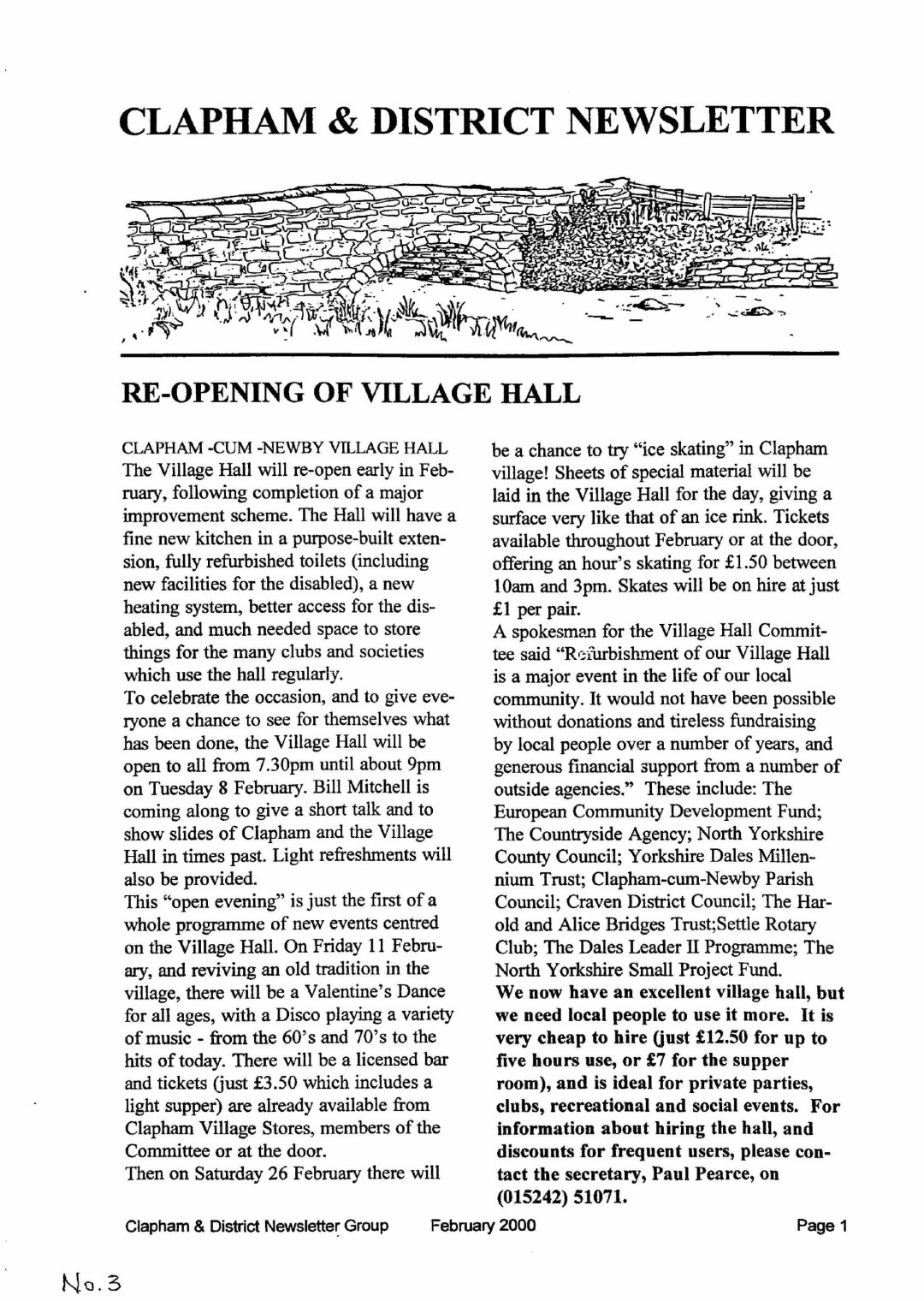 Clapham_Newsletter_No3_February_2000-1