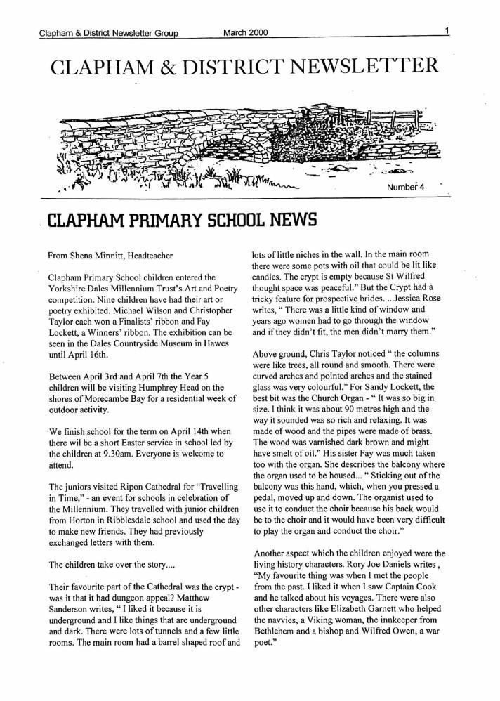 Clapham_Newsletter_No4_March_2000-1