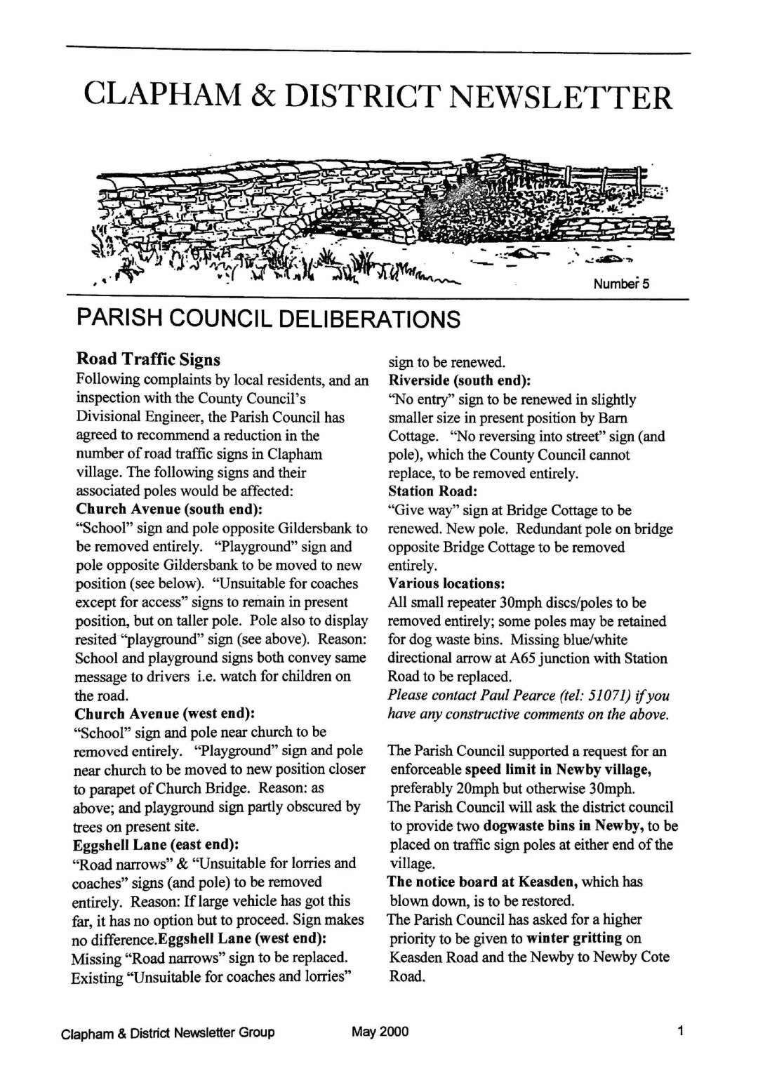 Clapham_Newsletter_No5_May_2000-1