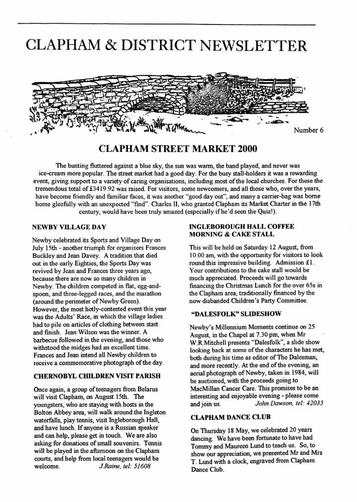 Clapham_Newsletter_No6_August_2000-1