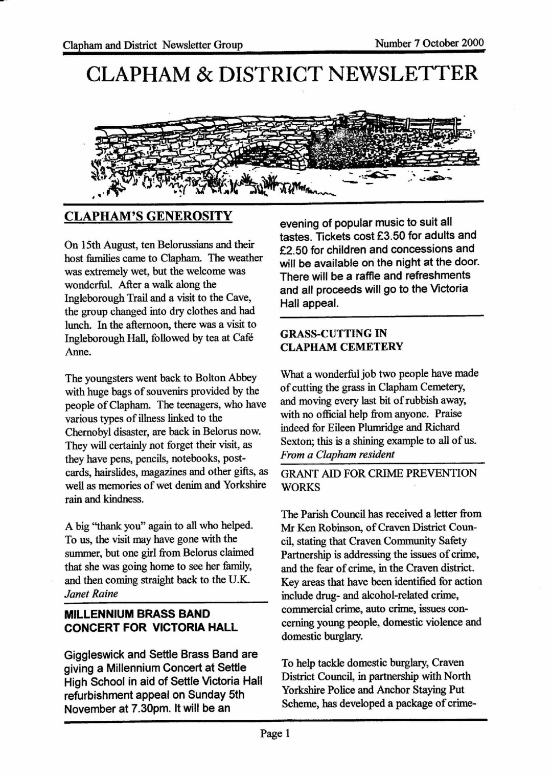 Clapham_Newsletter_No7_October_2000-1