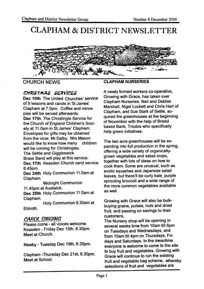 Clapham_Newsletter_No8_December_2000-1