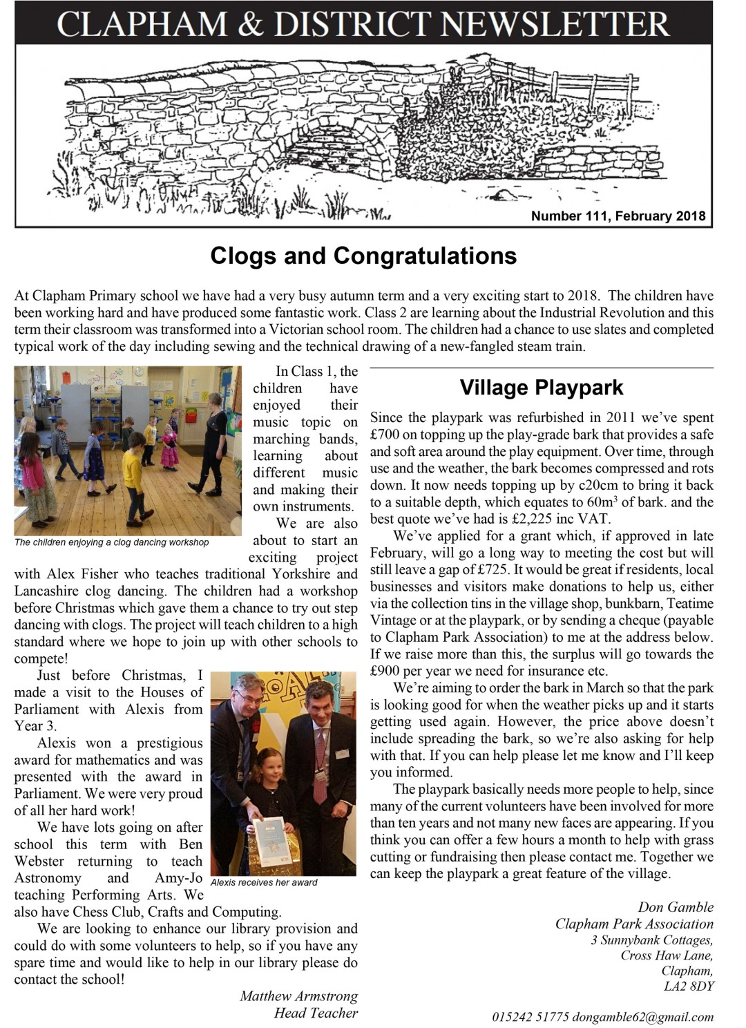 clapham-newsletter-111-February-2018-1
