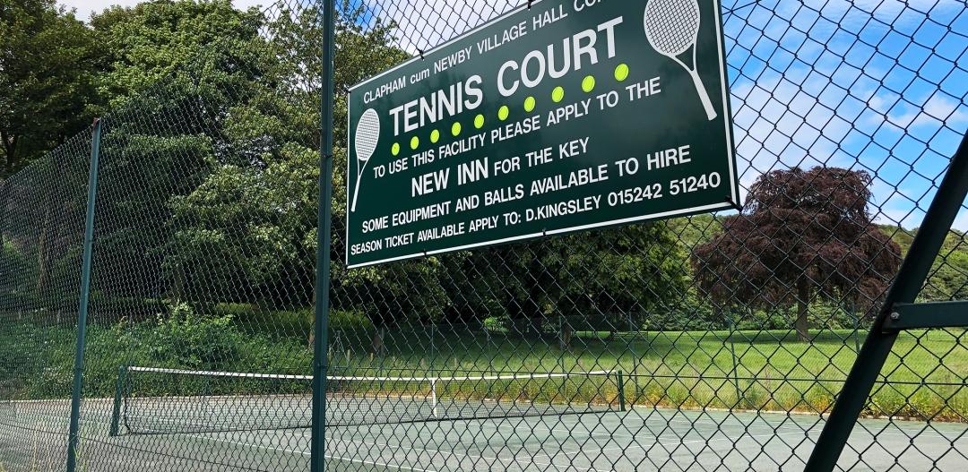 Clapham Tennis Court sign